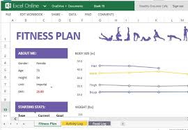 Track Progress In Excel How To Create And Track Your Fitness Plan With Excel Online