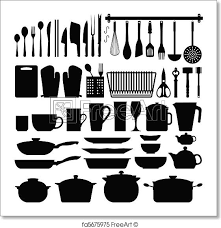 Image Stephen Boyle Freeart Free Art Print Of Kitchen Utensils Silhouette Vector