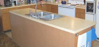 beige laminate countertop