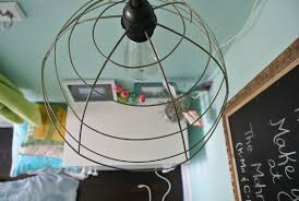 Diy Hanging Wire Lamp How To Make A Light Home Ideas Corner Lighting