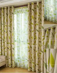 large size of curtains curtains marvelous lime green leaf in of camel color fabrci for