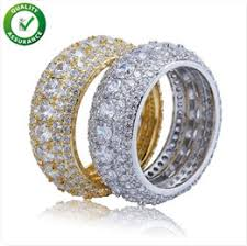 wedding gifts for men designer jewelry mens gold rings hip hop iced out ring