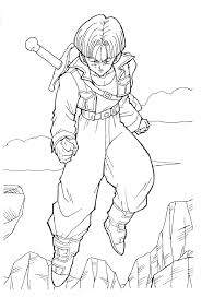 Beautiful dragon ball z coloring page to print and color : Coloring Pages Of Trunks In Dbz Coloring Home