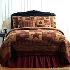 red rustic bedding red and brown bedding rustic quilt photo 5 of country primitive star twin