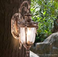 2019 outdoor retro wall lamp light classic vintage waterproof wall sconce coach carriage light bronze copper outdoor wall lamp light llfa from