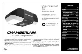 chamberlain b1381 user manual manualzz