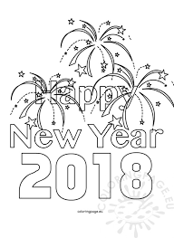Small Picture New Year Coloring Page