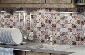 Red Kitchen Tile Backsplash Top 15 Patchwork Tile Backsplash Designs For Kitchen
