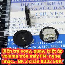 10 cái Biến trở xoay, quay, triết áp volume máy FM, nghe nhạc... BK B203  20K / B104 100k loại 3 chân kde5119 tại Đà Nẵng