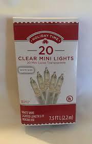 Holiday Time 20 Clear Mini Lights Amazon Com Holiday Time 20 Count Clear Mini Lights White