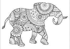 Tranh tô màu con voi đẹp