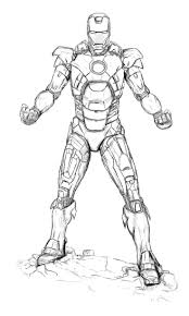 Printable Iron Man Coloring Pages For