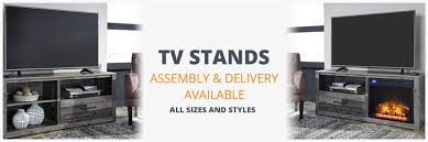 tv stands assembly and delivery available on all sizes and styles
