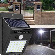 Outdoor Led Motion Sensor Light 2pcs Solar Power 30 Led Pir Motion Sensor Wall Light Waterproof Outdoor Path Yard Garden Security Lamp
