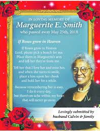 Marguerite Smith Memoriam - Hamilton, Bermuda | The Royal Gazette