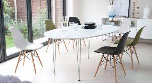 White Extending Dining Table And Eames Style Dining Chairs  Youtube  Regarding Eames Chair Dining Table