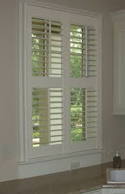 image of indoor louvered window shutters