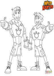 Small Picture Chris and Martin Kratts coloring page Free Printable Coloring Pages