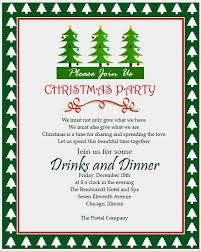 Company Christmas Party Invite Template Office Christmas Party Invitation Wording Cohodemo Info