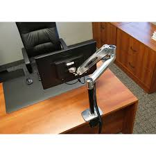 ergotron lx sit stand desk mount lcd arm on office desk