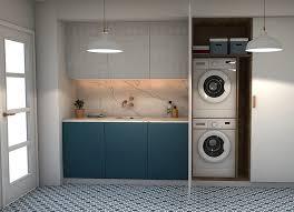 Dans une configuration où la buanderie et le cellier partagent le même espace, on peut couvrir les murs de meubles de rangement pour bien séparer les différents objets et éléments. Comment Superposer Un Seche Linge Sur Un Lave Linge Guide Complet