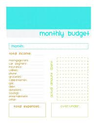 Easy Monthly Budget Easy Monthly Budget Template Printable Mrproperty Me