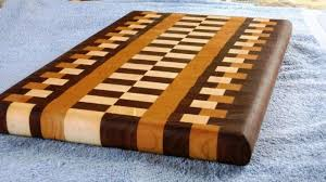 Checkered Cutting Board Design