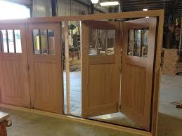folding garage doorsSlide and Fold Mahogany Doors  Traditional  Exterior  DC Metro