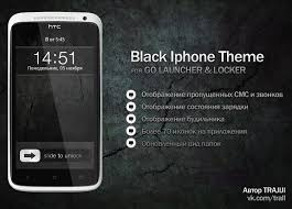 Black Iphone Theme for Android by TRAJIJI on DeviantArt