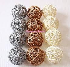 White Rattan Decorative Balls