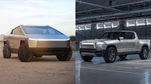 Tesla Cybertruck vs. RT1 van Rivian ...