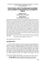 <b>Four</b> Weel <b>Drive</b> Tourism and Economic Development Opportunities ...