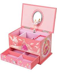 songmics al jewelry box ballerina jewel storage case for s ball princess pink ujmc006