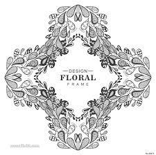 花卉花环花朵春夏高清背景图边框架纹饰eps矢量素材平面广告乐分享素材