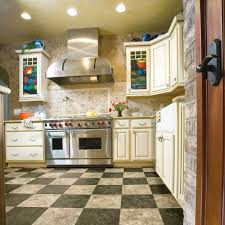 Checkerboard Kitchen Floor Armstrong 12 Ft Wide Caspian Ii Plus Checkerboard Tan Residential