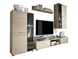 wall unit living room furniture. furnline salsa oak light rough cut tv stand wall unit living room furniture set brown