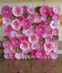 Pink Paper Flower Decorations Pink Paper Flower Wall 8ft X 8ft Extra Large Paper Flowers