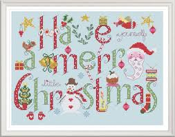 Christmas Cross Stitch Charts Have Yourself A Merry Little Christmas Cross Stitch Chart Digital Format Pdf Pattern