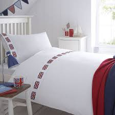 Union Jack Flag Organic Bedding Collection - bedroom