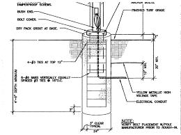 Concrete Light Pole Base Design Park Security Wildomar Connected