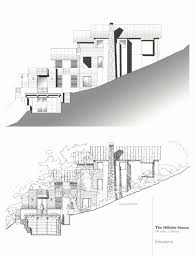 modern home plans for sloping lot unique baby nursery hill side house plans modern hillside house