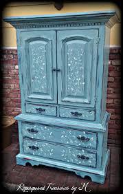 Navy Blue Dresser Bedroom Furniture Distressed Dresser Etsy