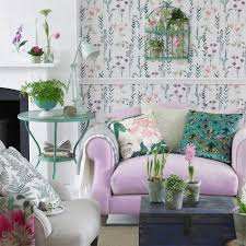 Pink And Green Living Room Botanical Inspired Room Schemes That Invite Florals And Foliage