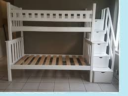 Contemporary Style Wooden Tri Bunk Bed