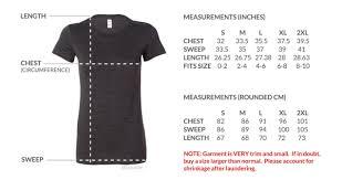 Bella Canvas T Shirt Size Chart Size Chart 36bucks Com