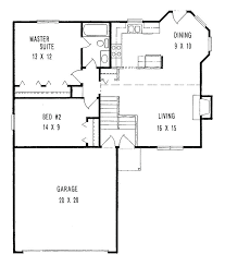 two bedroom house plans with garage classy 2 small story