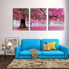 canvas print wall art painting for home decor purple flowers at tree panel artwork the picture for living room decoration tree paintings canvas paintings