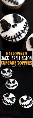 Jack Skellington Decorations Halloween Halloween Jack Skellington Cupcake Toppers Video Tutorial