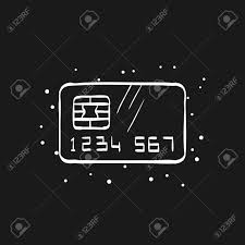 Credit Card Icon In Doodle Sketch Lines Money Buying Shopping