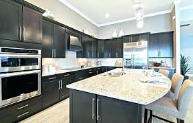 Dark Kitchen Cabinets With Light Granite New Light Granite Countertops With Dark Cabinets Light Granite Winsome